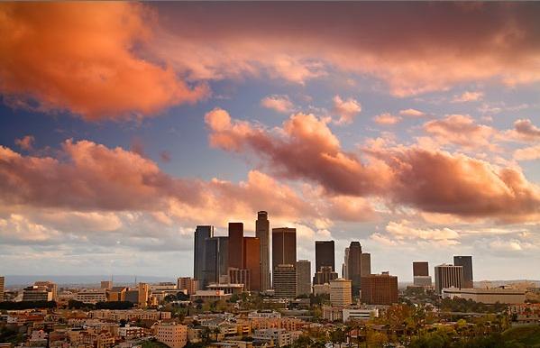 LA skyline day